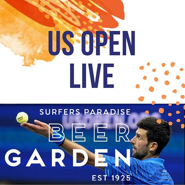 Catch all the #usopen action every day at the Beer Garden, your home of sport