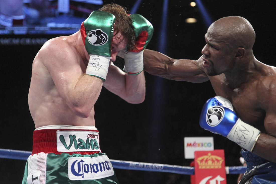 September 14, 2013: Floyd Mayweather wins the vacant Lineal Junior Middleweight World Title by outpointing Saul Alvarez. The two men were the top 2 rated Junior Middleweights in the world at the time of this bout, as per The Ring and TBRB rankings.