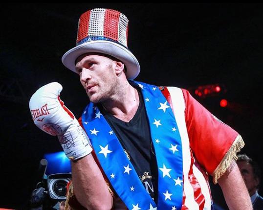 Fury, prior to dispatching of German challenger, Tom Schwarz, in Las Vegas, 2019
