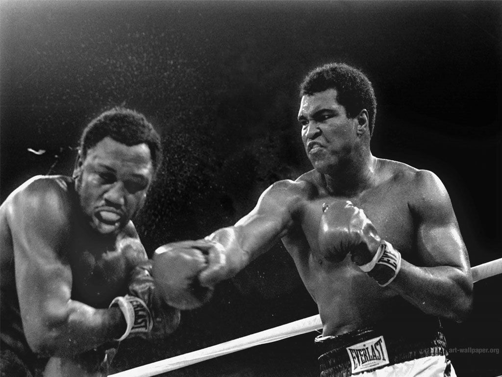 The 3rd fight between Ali and Frazier, 1975