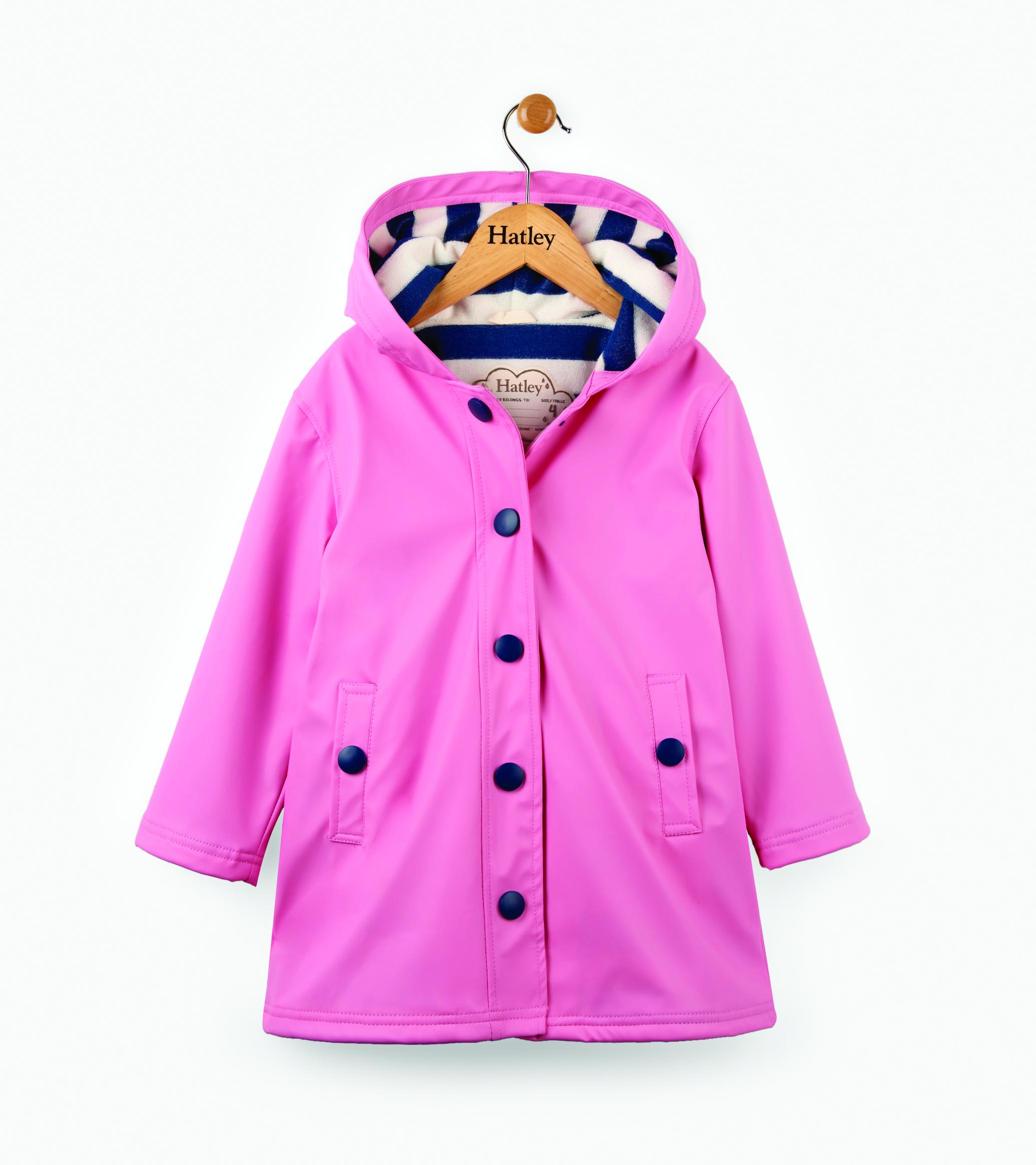 Hatley Girls Splash Jacket-Navy Rain