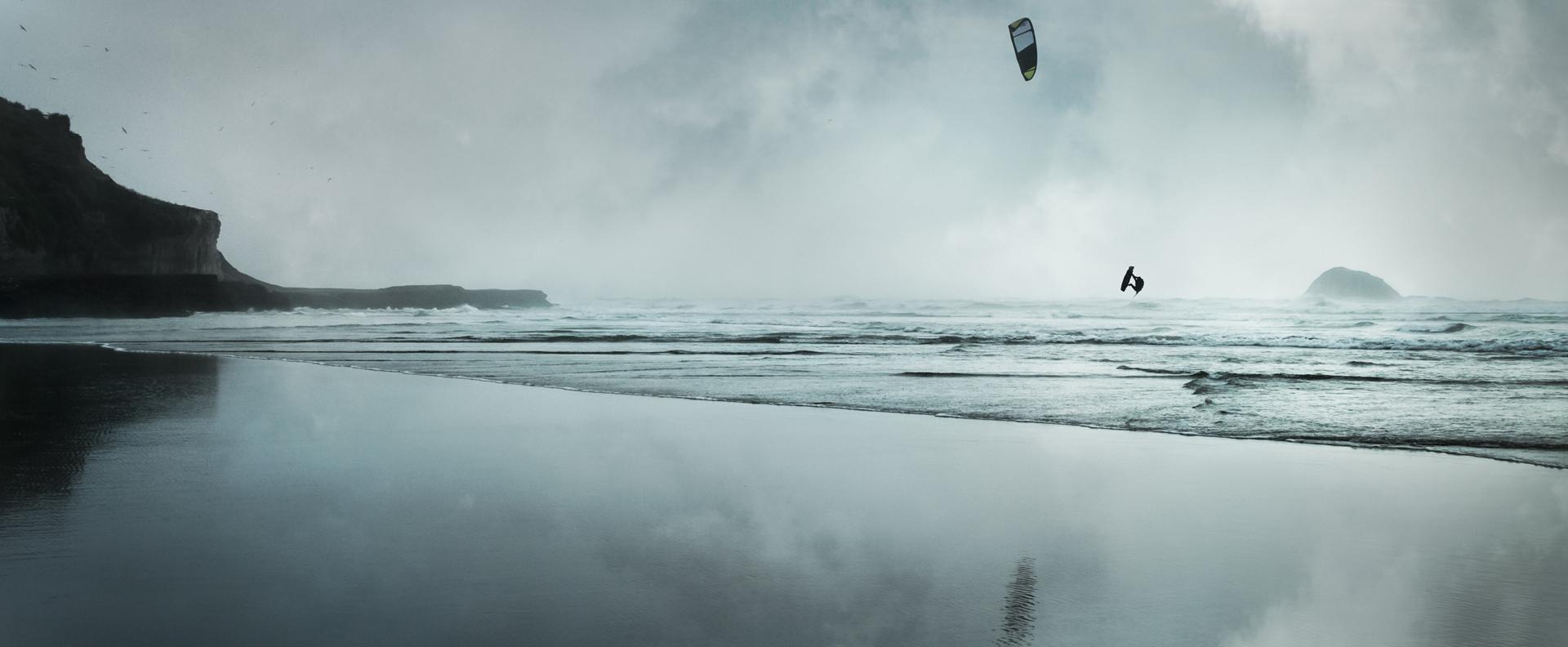 Kitesurfer at Muriwai