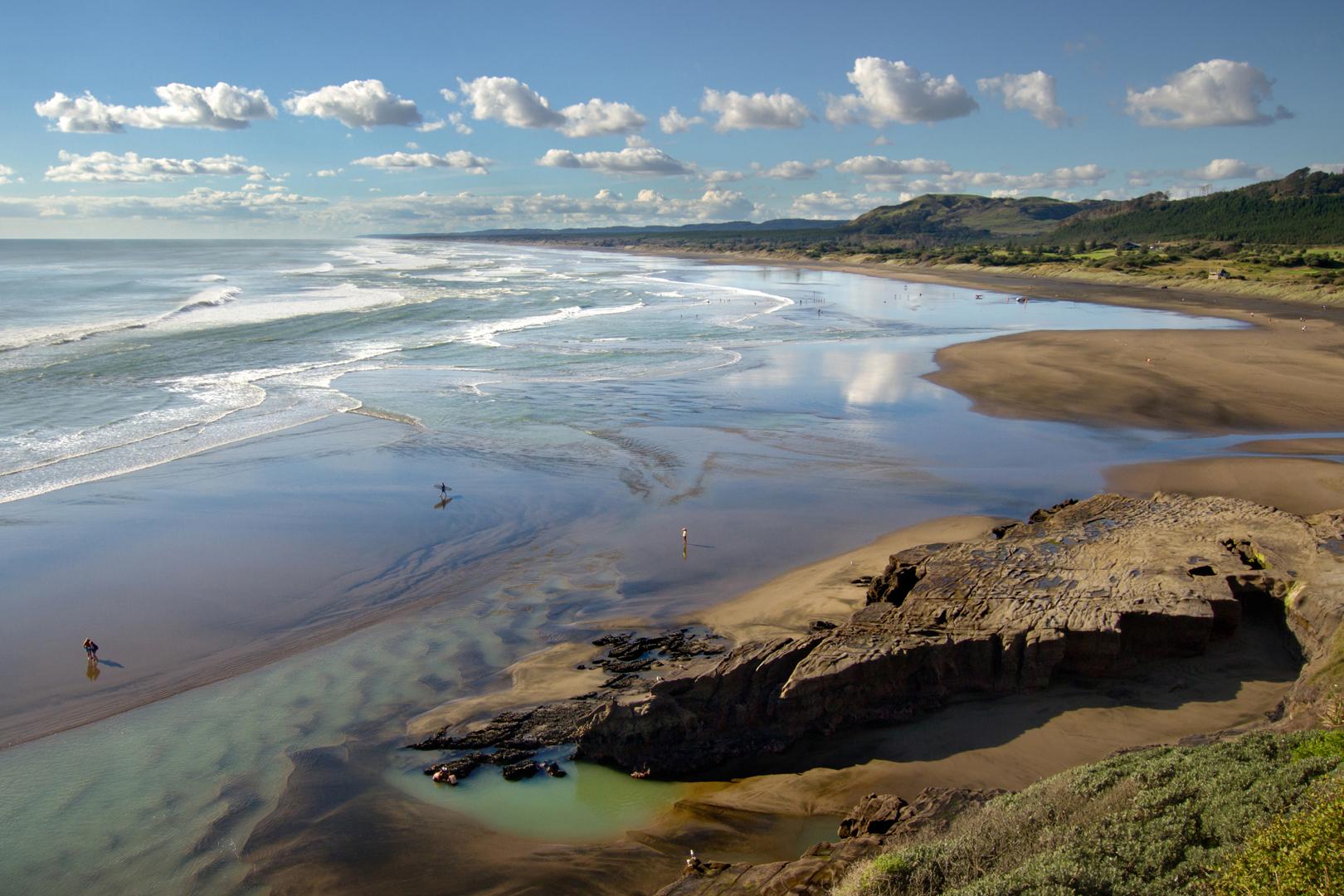 Low tide at Muriwai