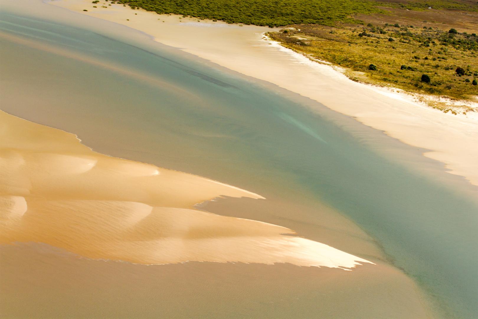Slabs of sandbank