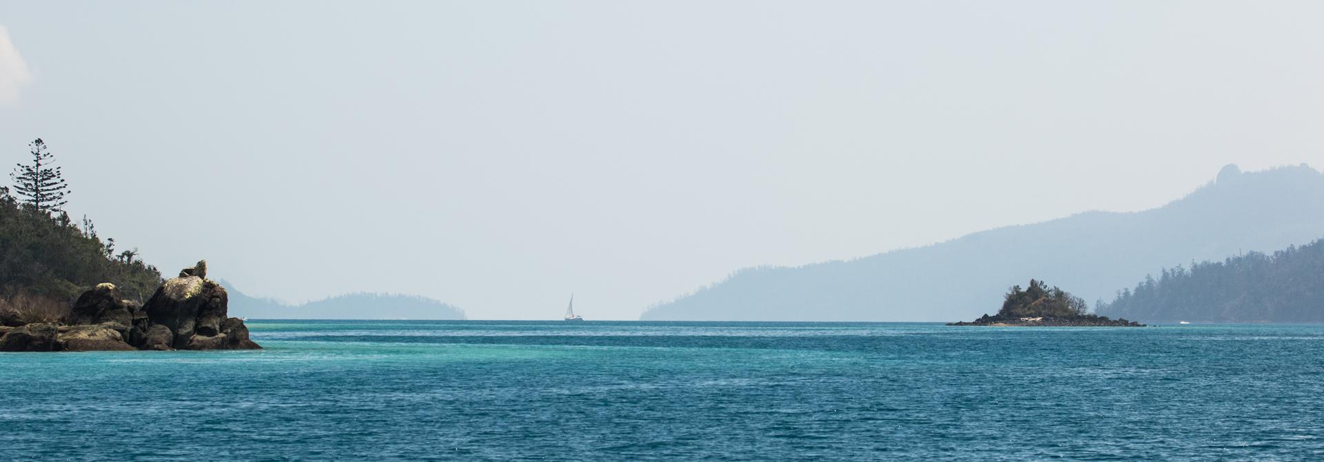 Between islands