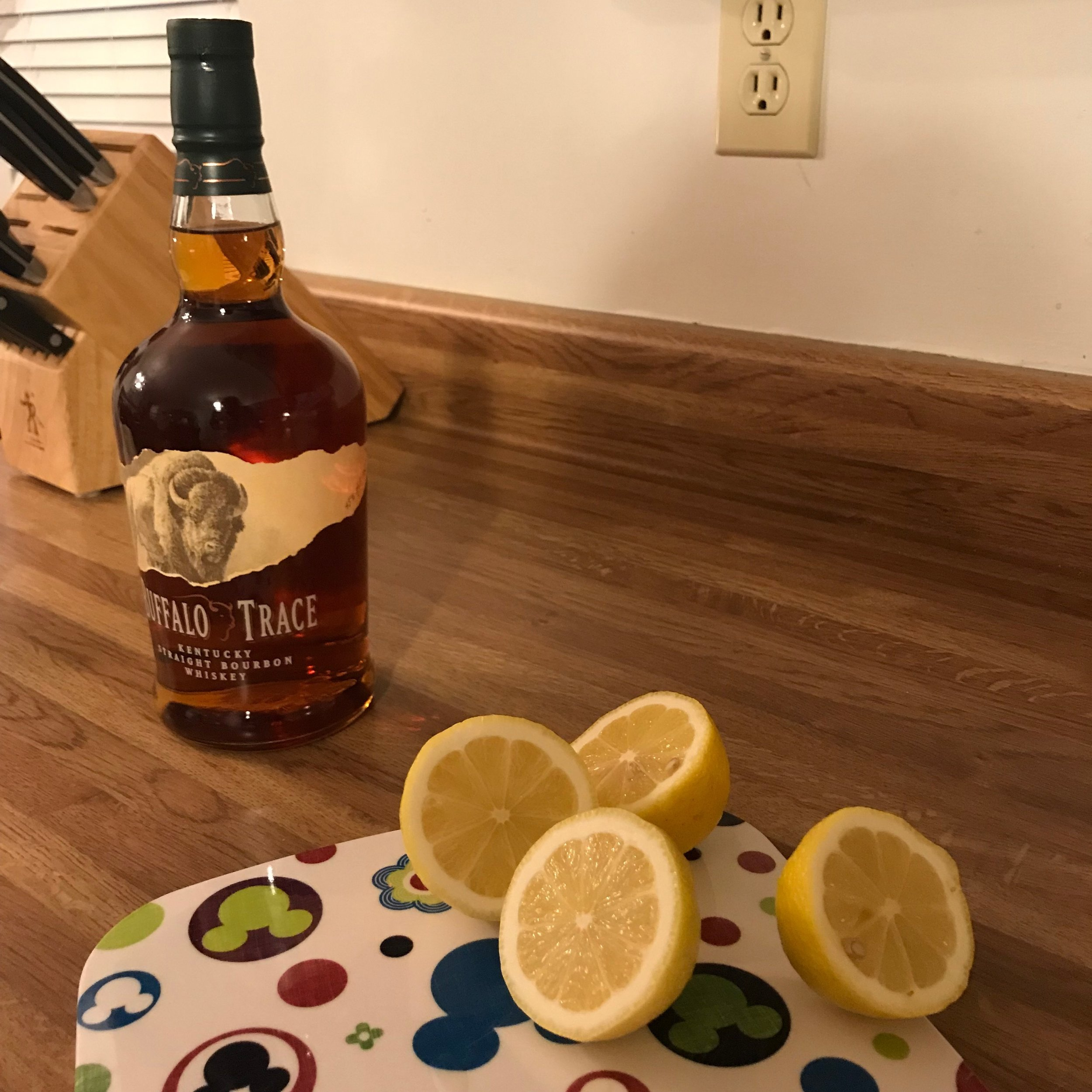 this weeks cocktail is a play on the bee's knees cocktail, but with bourbon.