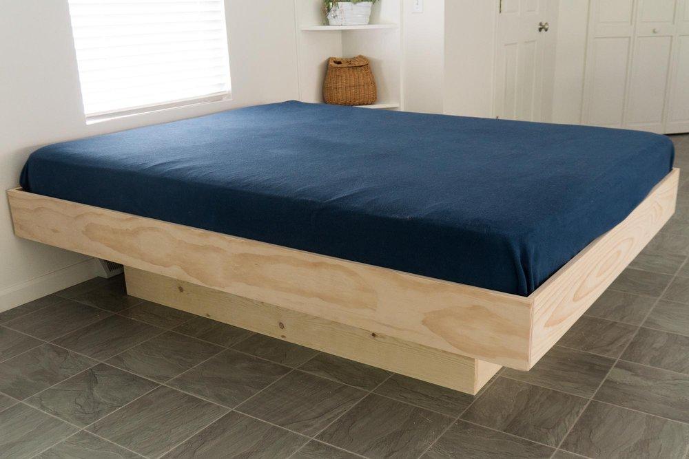 Diy Platform Queen Bed Plans, How To Build A Platform Queen Bed