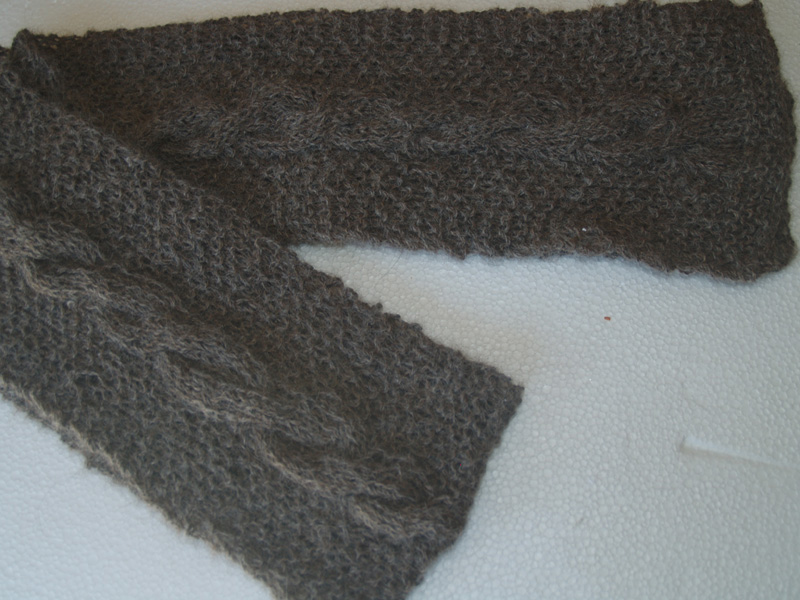 Hand-Knitted 100% Baby Alpaca Scarf