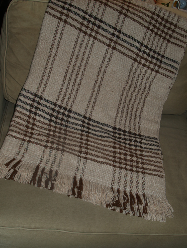 100% Alpaca Woven Throw (48 x 68)