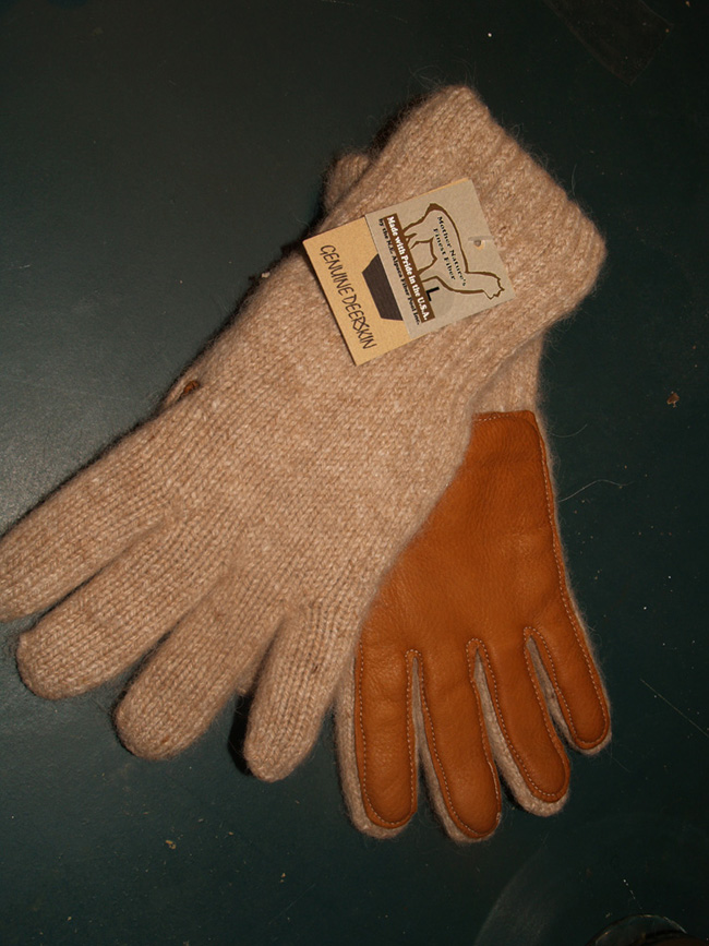 100% Alpaca Driving Gloves (Deer Skin Palm)