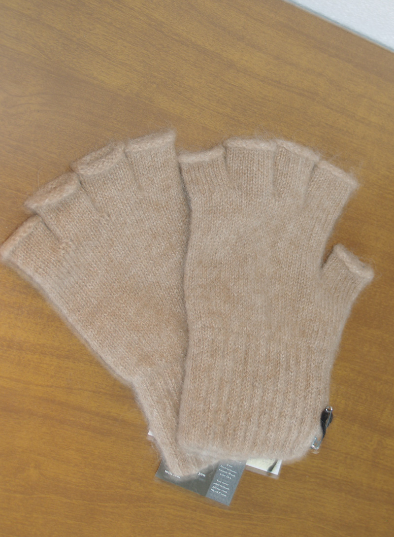 100% Alpaca Fingerless Gloves