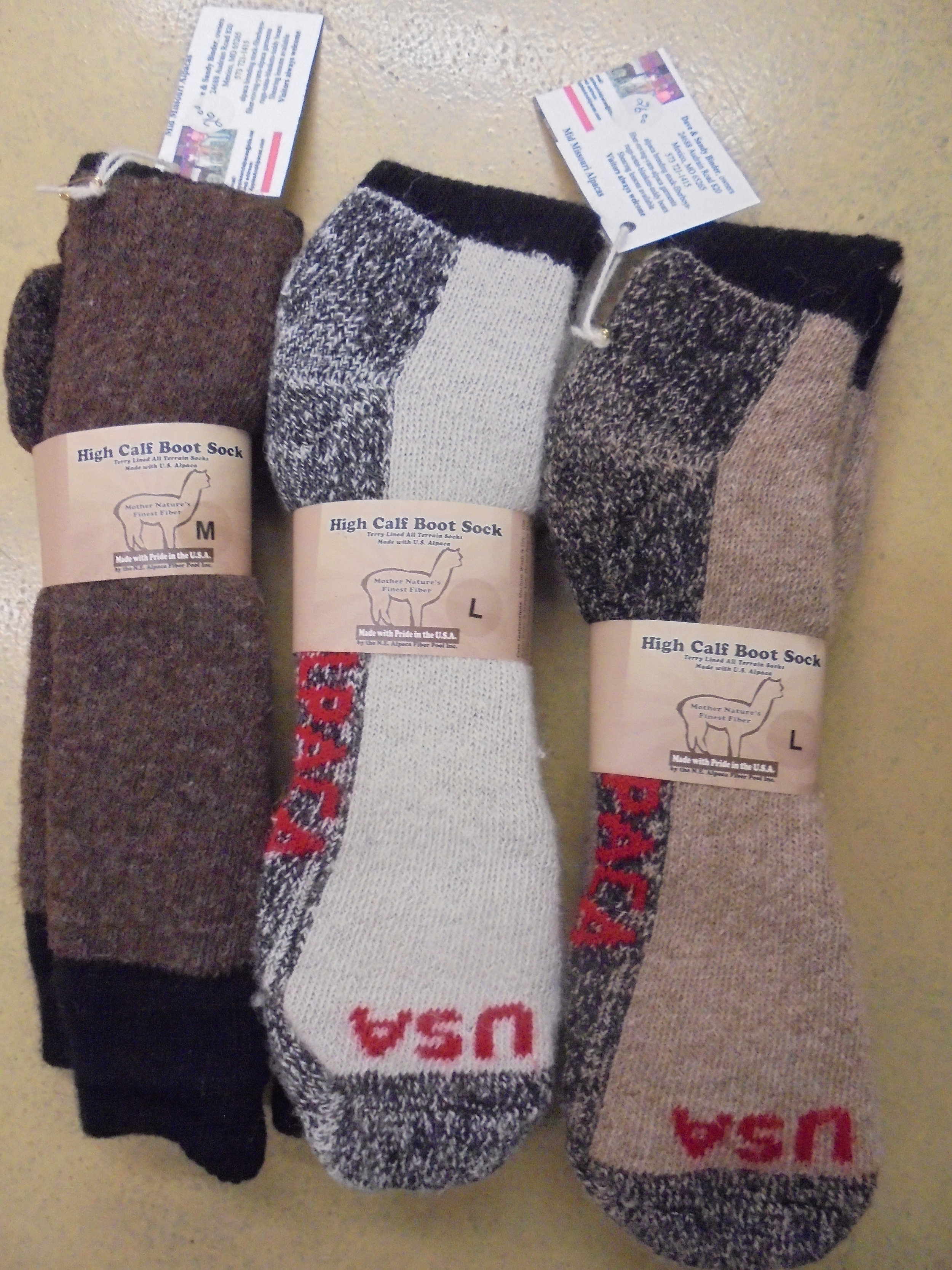 Alpaca High-Calf Boot Socks
