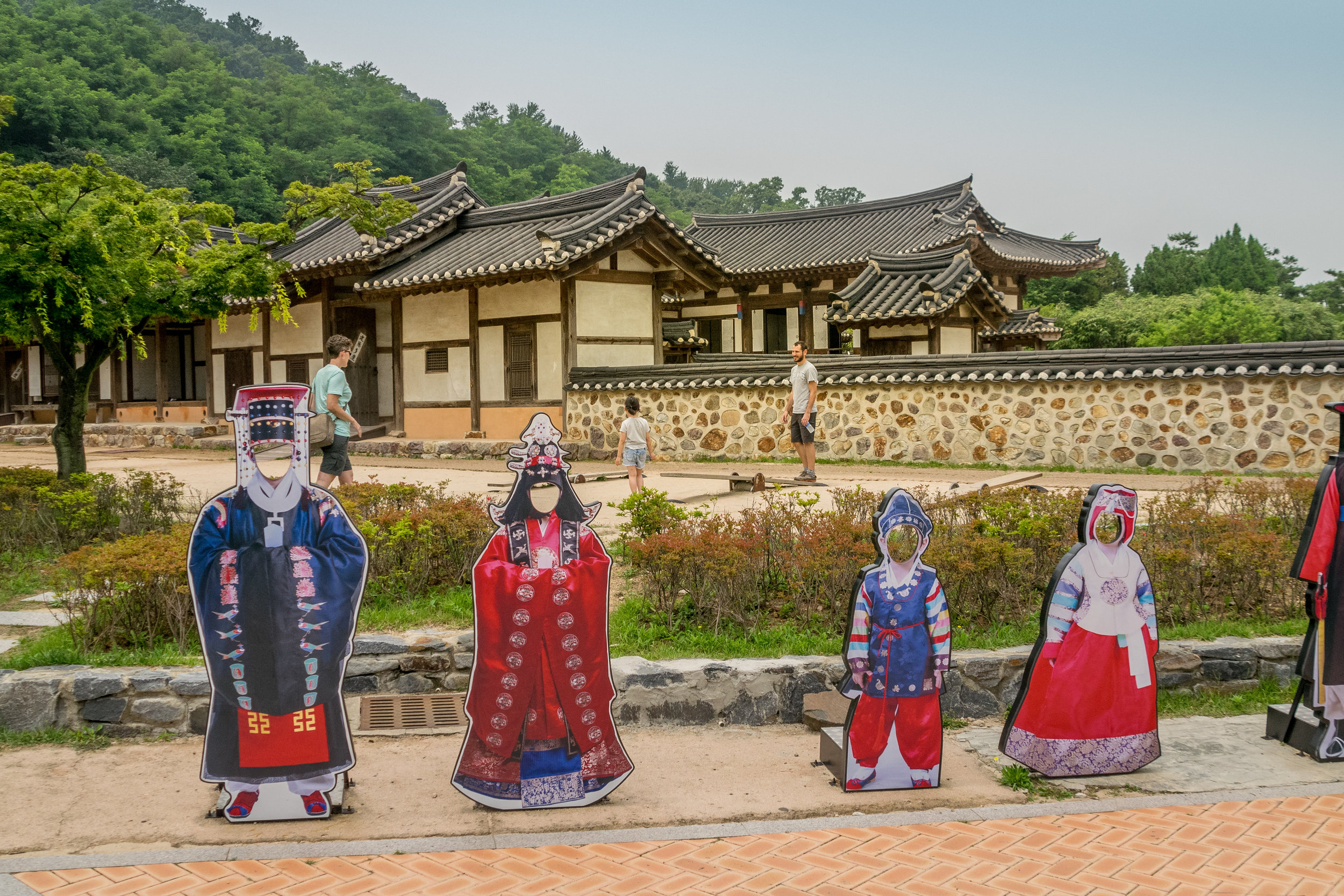 Traditional Korean style homes for the very wealthy families