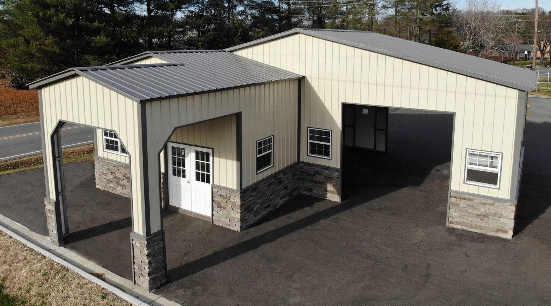 Metal Building Garages -