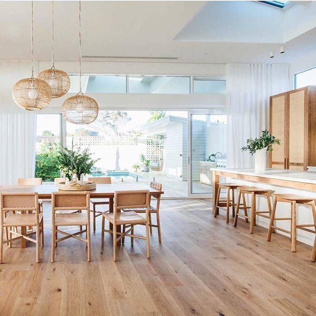 High ceilings, timber, and the perfect sheer curtains by @kyalandkara
