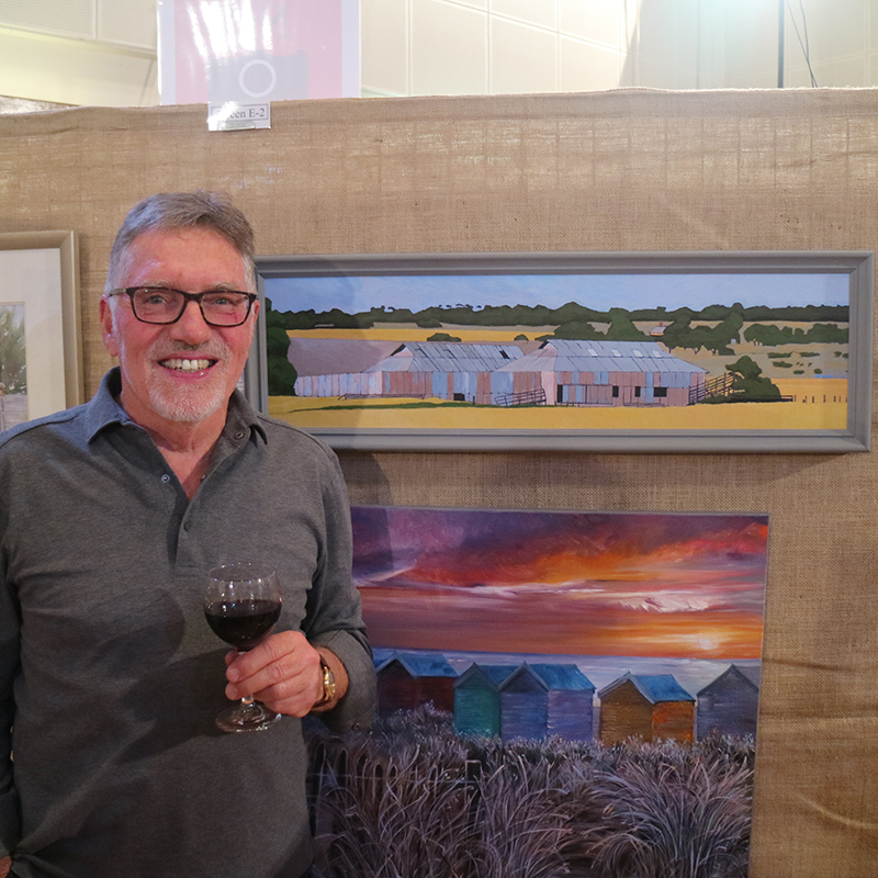 Ian Burman (Old Shearing Sheds Near Price) #35   Open Entry Fine Art Exhibition First Prize Winner