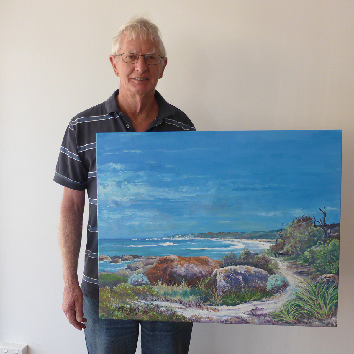 Second Prize:   BERRY BAY by Terry Braund   Paining 76cm x 61cm valued at $550.00