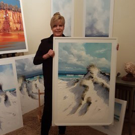 First Prize:  NORTH WIND by Victoria Rolinski   Painting 103cm x 72cm valued at $990.00