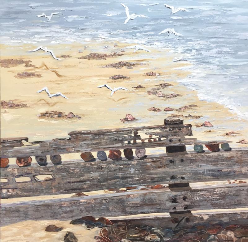 Second Prize, $1,000   Ruth Robinson (Broken Barrier) #127