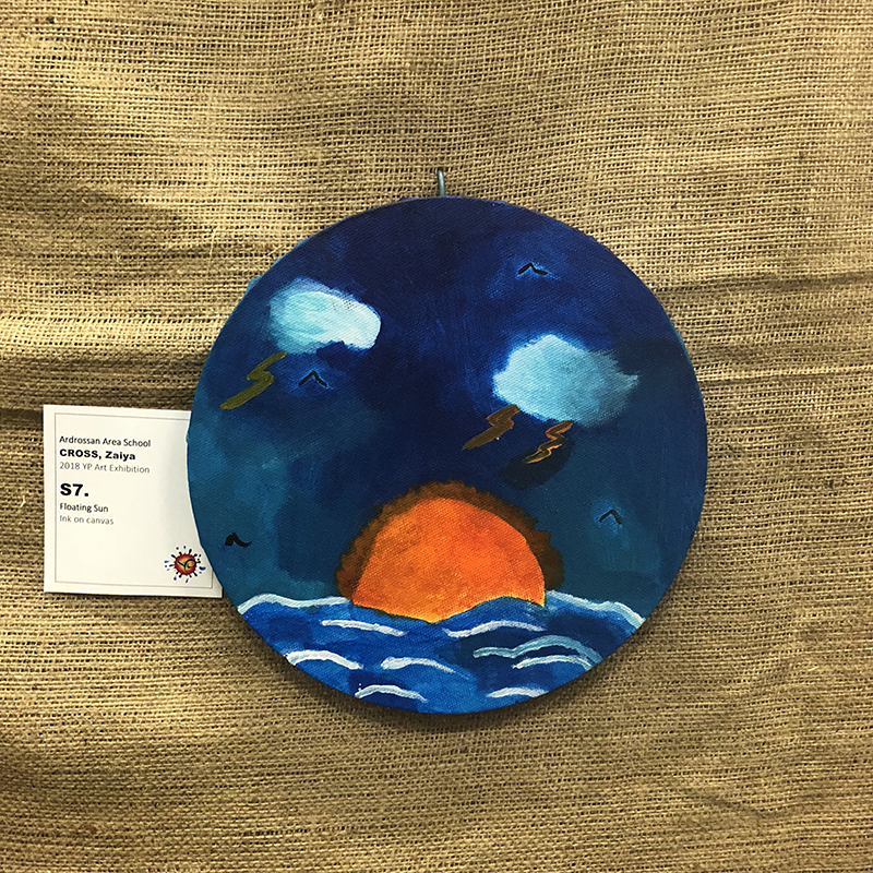 Primary School Awards   First Prize $100.00 – Zaiya Cross (Floating Sun) Ardrossan Area School