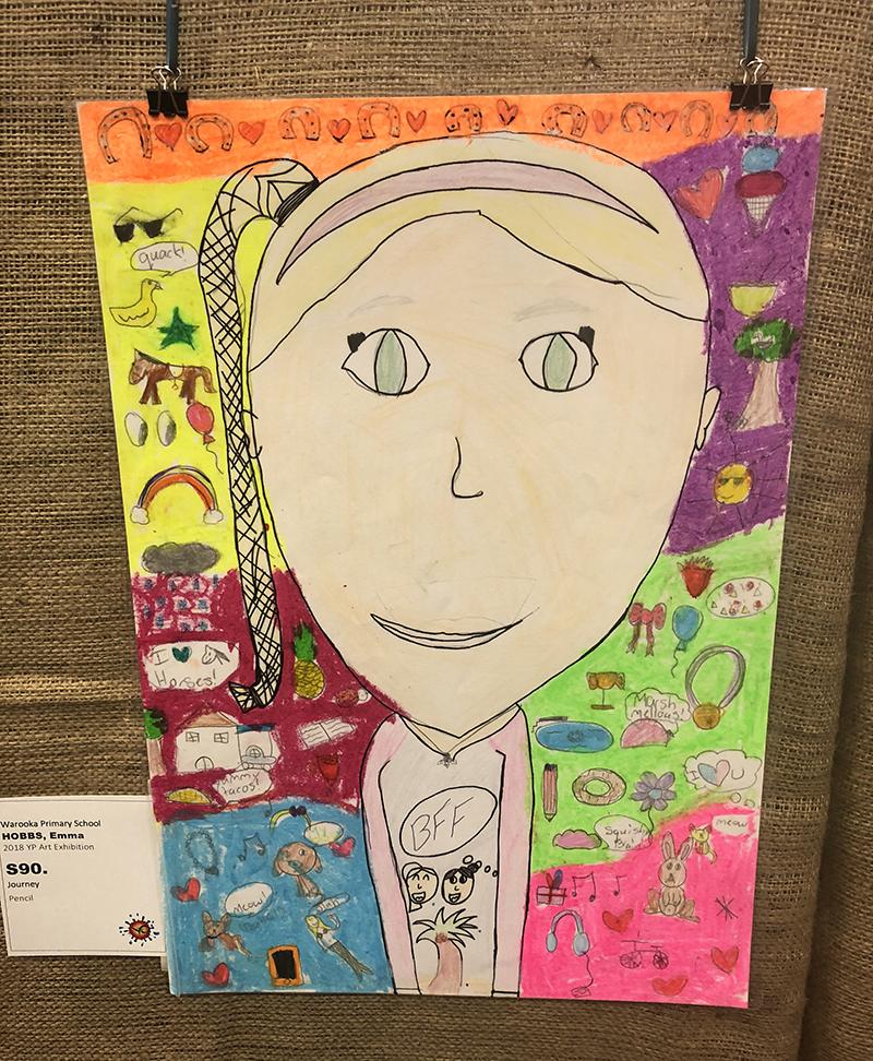 Primary School Awards   Second Prize $50.00 – Emma Hobbs (Journey)Warooka Primary School