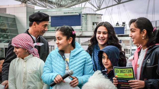No Refugee Ban, No Muslim Ban Airport Rally - January 27, 2018. Click here for photos by by K.Kendall.