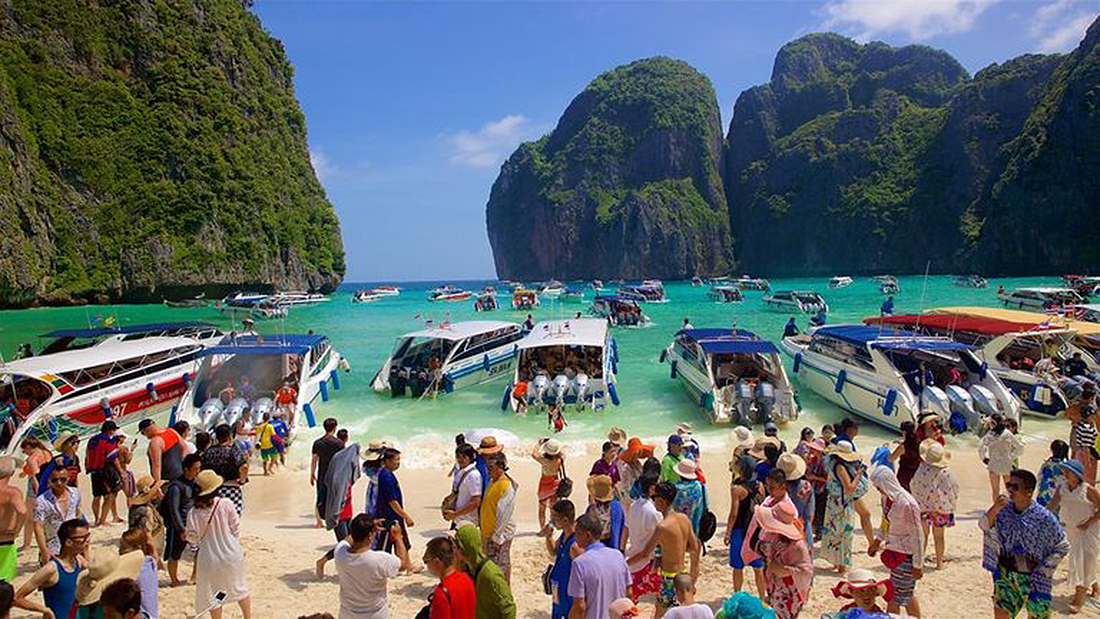 The indefinitely closed, Maya Bay.