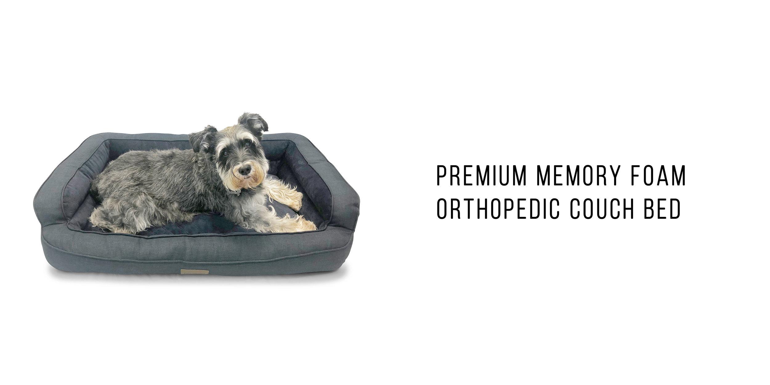 premium memory foam orthopedic couch bed