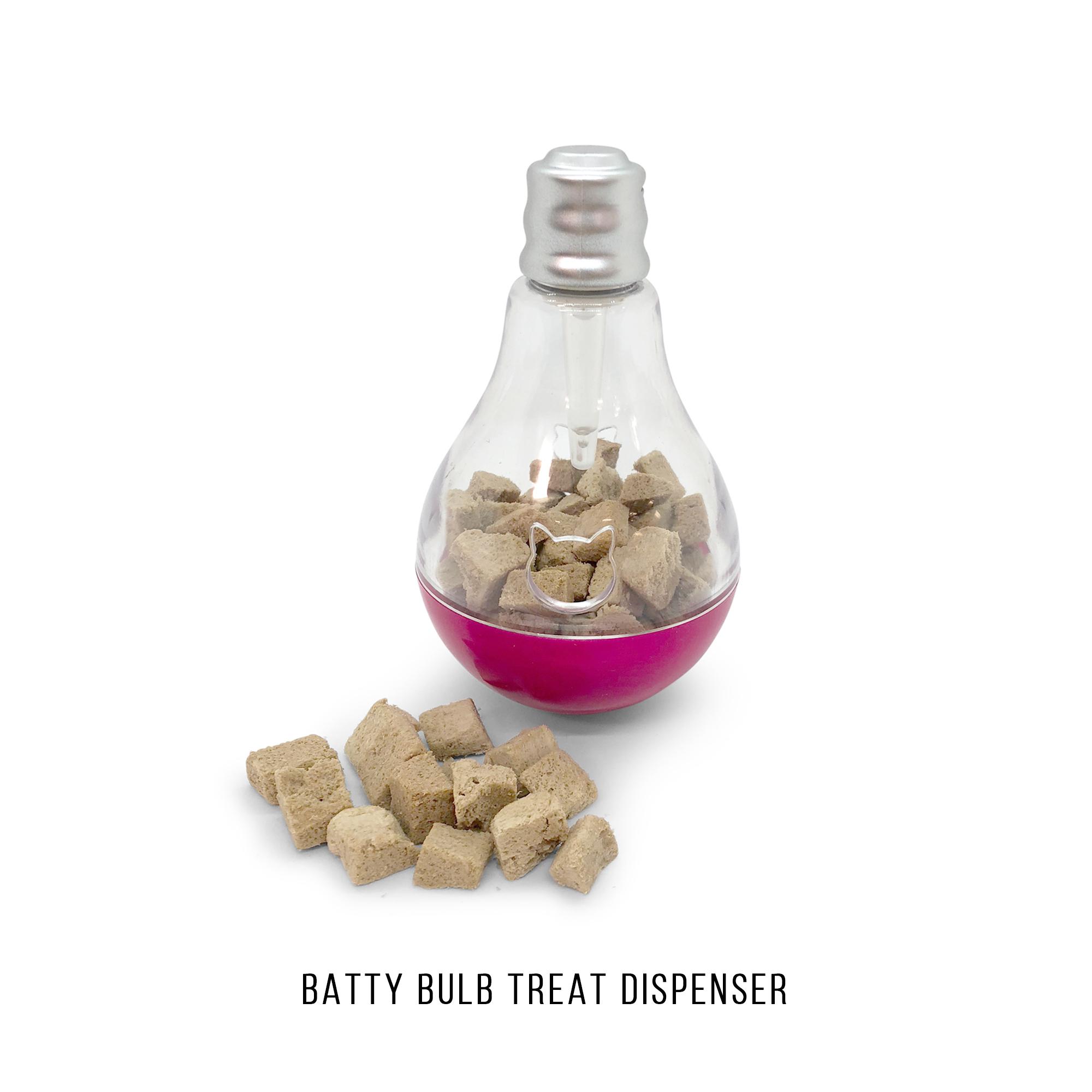 Pet Craft Supply Batty Bulb Treat Dispenser Slow Feeder Interactive Pet IQ Training