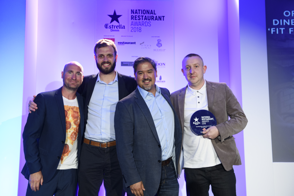 Chef's Table awarded Best Foodie Restaurant at the National Restaurant Awards 2018