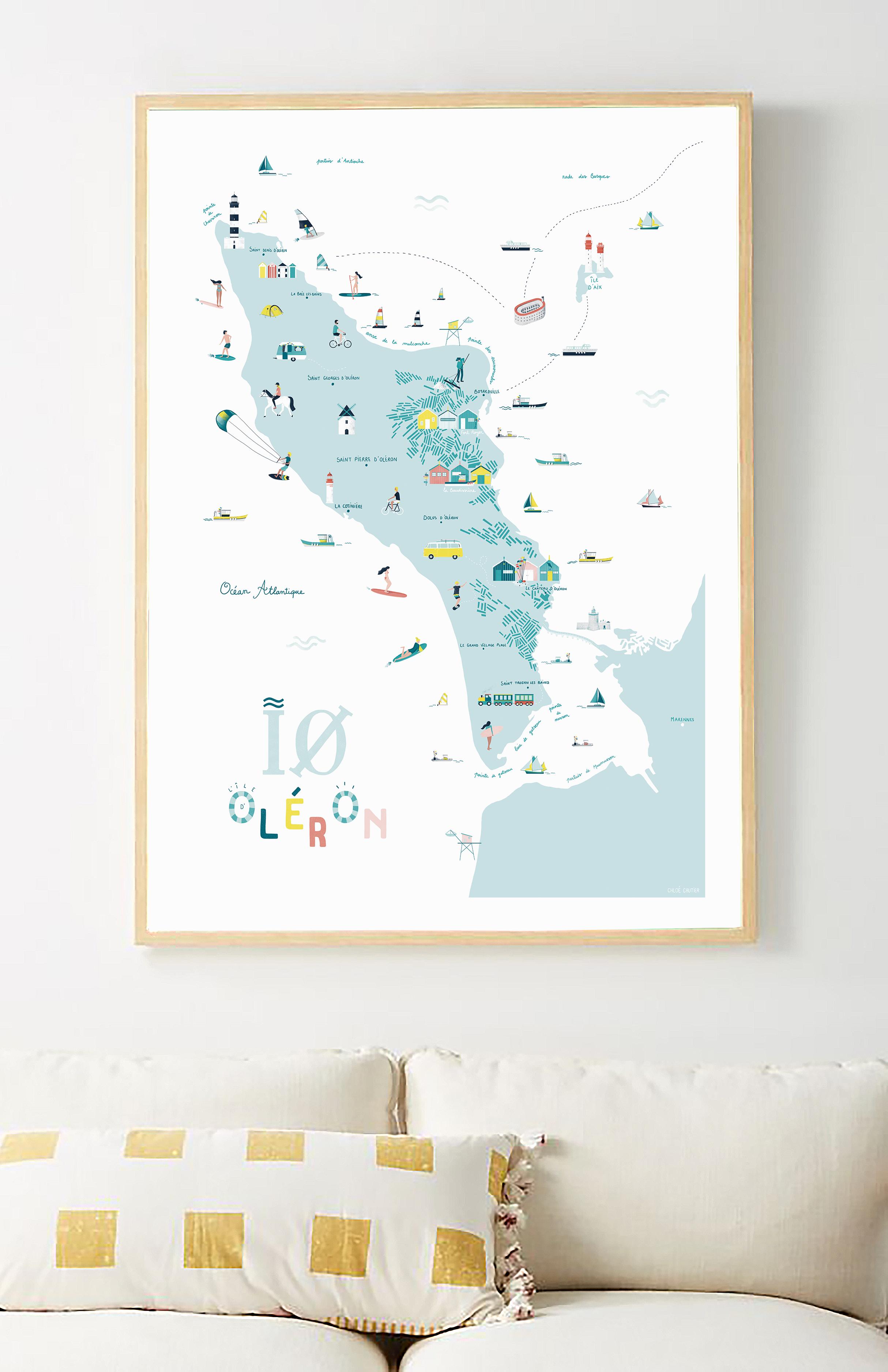 île d'Oléron Map