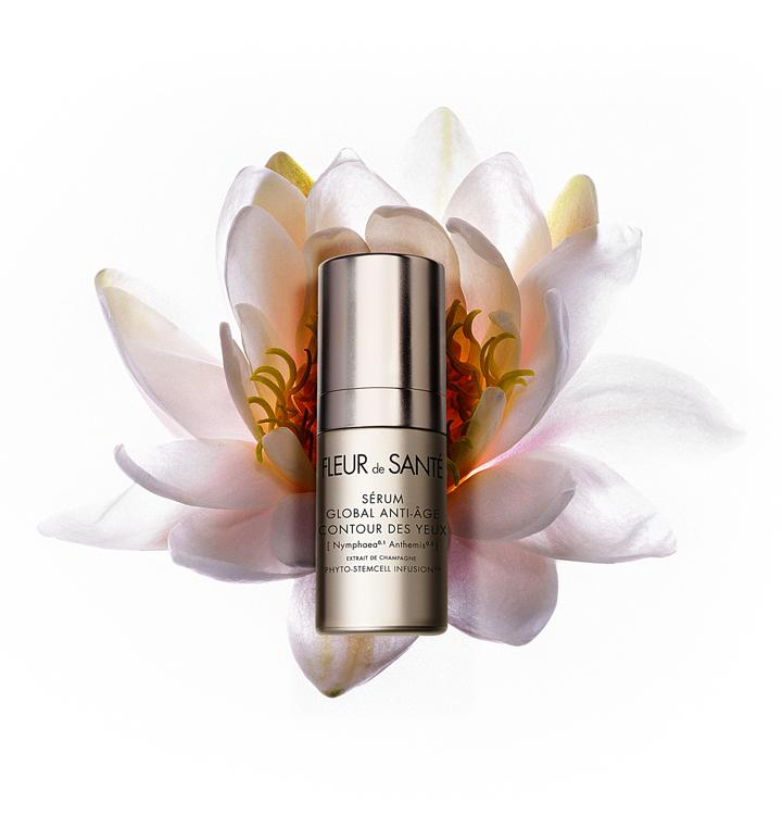 GLOBAL ANTI-AGING REVITALIZING EYE CONTOUR SERUM - This ultra delicate, unscented formula promotes skin health and slows the aging process in the most strategic parts of the face, while its exclusive, ultra fine and delicate texture melts into the skin, leaving it looking instantly smoother and more luminous thanks to [Nymphaea Anthemis] Champagne Phyto-StemCell Infusion.