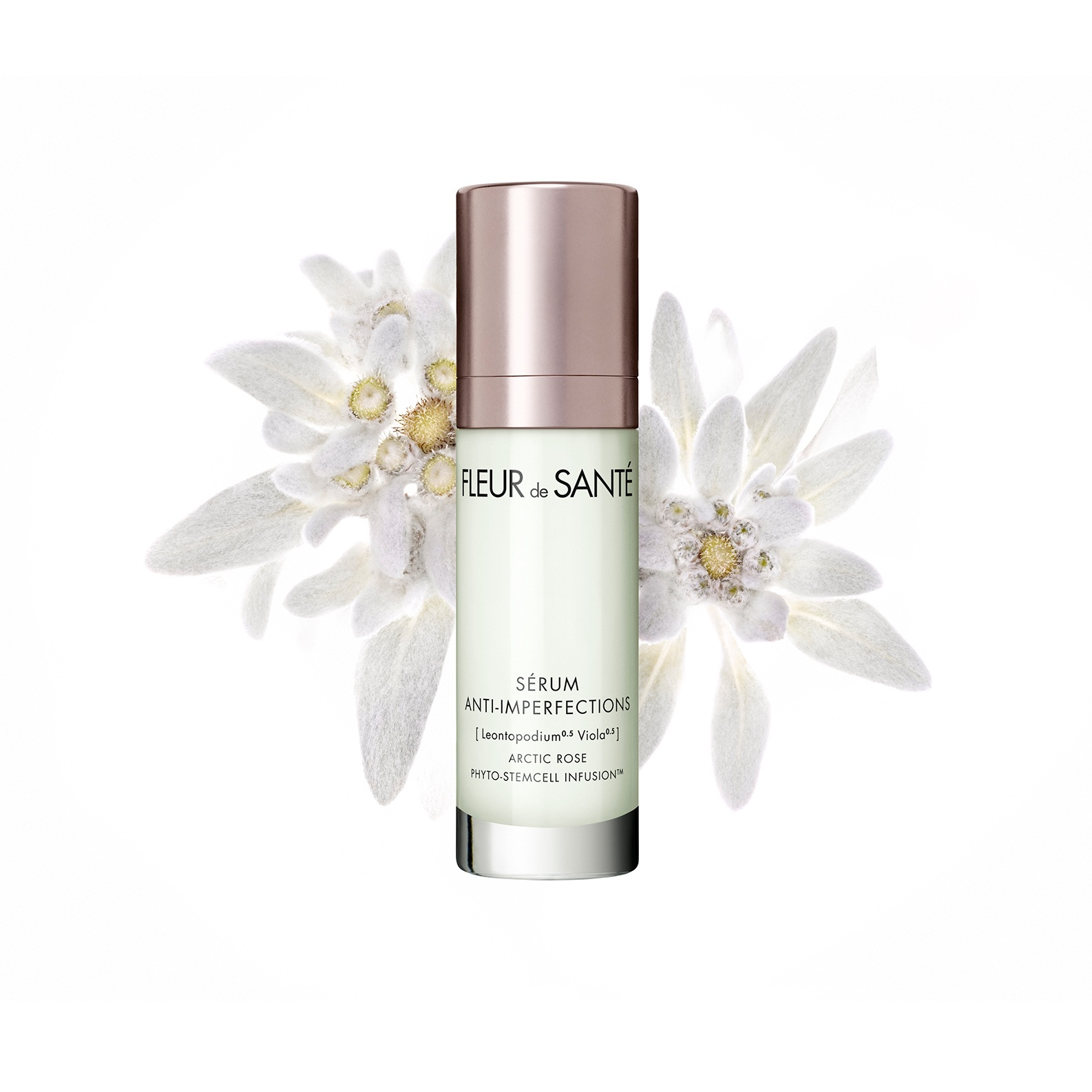 POWER ANTI-BLEMISH SKIN SMOOTHING SERUM - Targeted treatment to help achieve a perfectly flawless look without blemishes and imperfections. The actives of [Viola Asteraceae] Arctic Rose Phyto-StemCell Infusion™ target red spots for healthier looking skin. The oil-free, ultra-smooth texture does not clog pores.