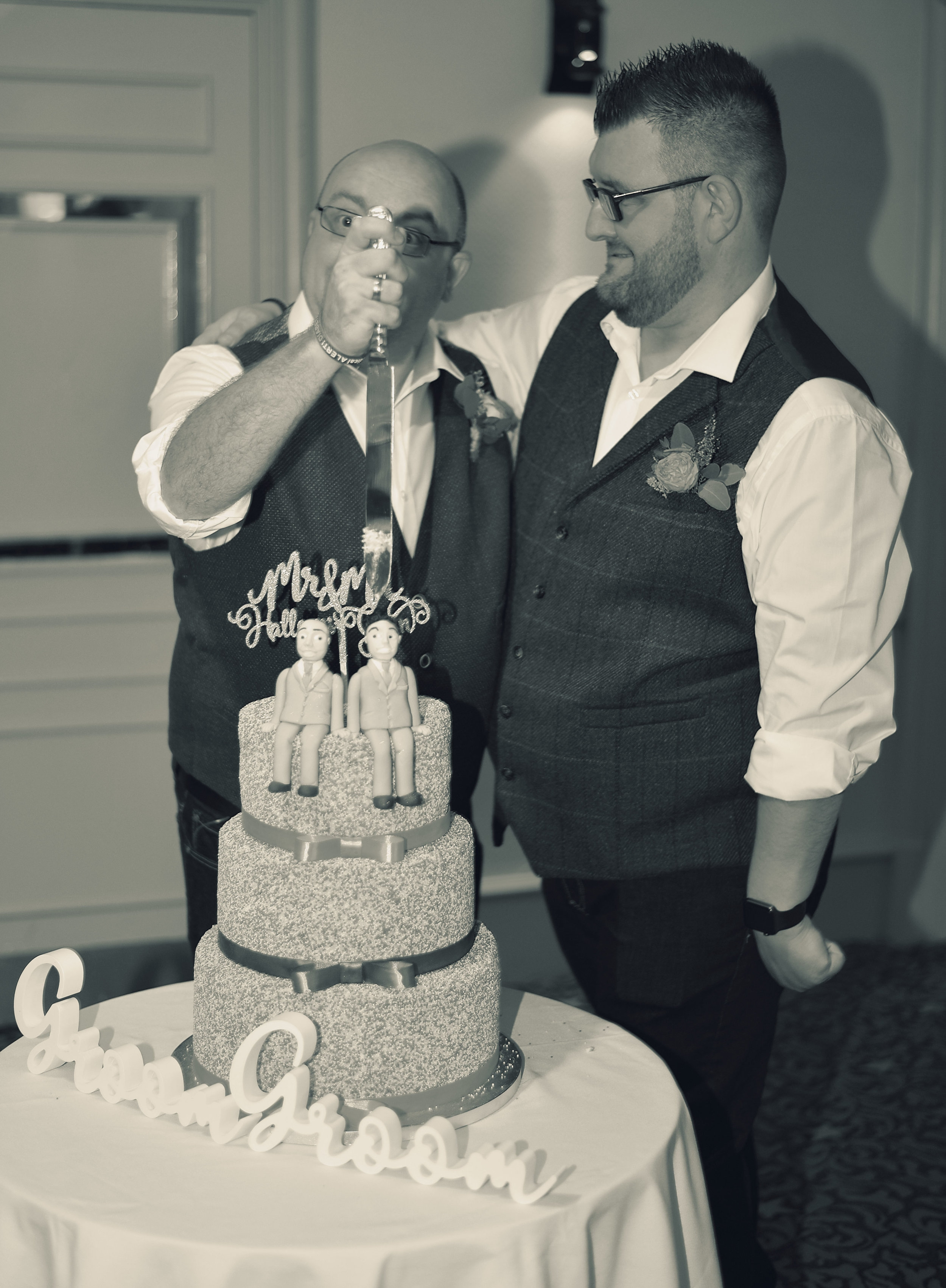 In September 2018 I was chosen by Jay and Steve to be their photographer at their wedding in Cardiff. - The wedding of Jay and Steve was one of the most emotional, yet happy experiences of my life. Witnessing the coming together of two people and their genuine love for each other and the admiration from their guests made their day a truly memorable event, and one in which I documented right from the start of the day, until well into the evening. I'll be forever grateful for being able to photograph their special day for them.