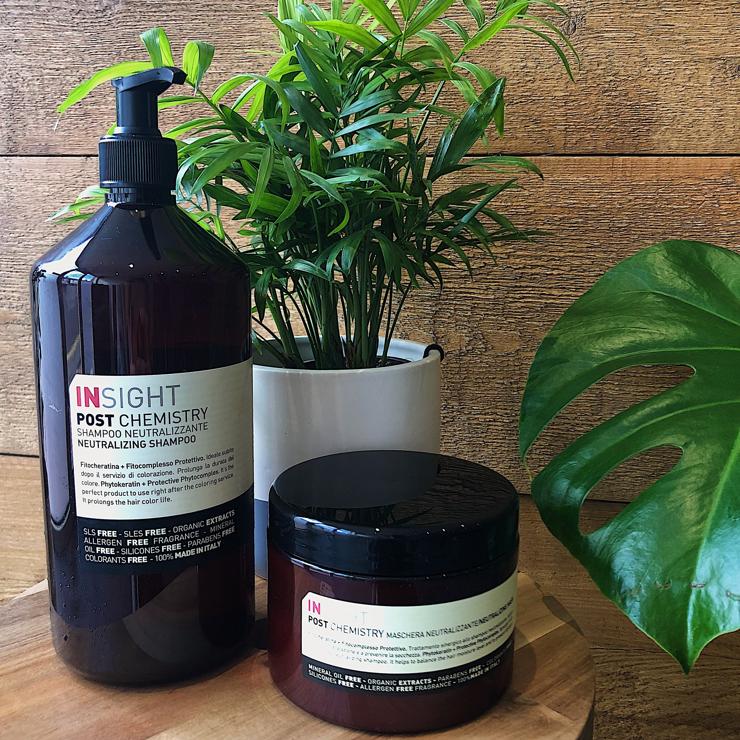 -  As an eco-conscious salon we pride ourselves on the fact we are a stockist of 100% Italian hair care range Insight. As a vegan-friendly product line, Insight delivers on hair care whilst boasting of its organic ingredients, sustainable and recyclable packaging, zero approach to animal testing and the fact it is sulphate, paraben and silicon free. To go hand-in-hand with this, we have chosen a disposal service where 90% of our in-salon waste is recycled with future plans including water-use reductions and energy saving lighting.