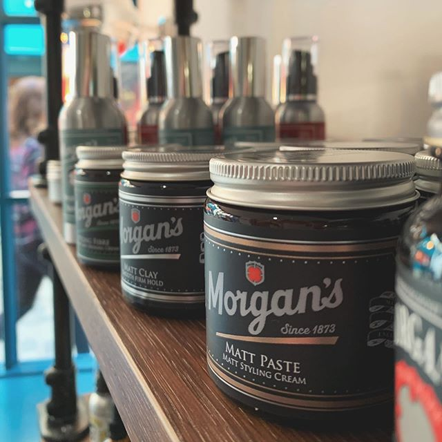 We've got some brand new products for you to try, including Styling Fibre, Matt Clay, Strong Wax, Sea Salt Spray, and a new and improved Matt Paste, all from Morgan's! Come on in and ask any of our barbers about them  #barber #barbershop #morgans #hair #hairgoals #hairproducts
