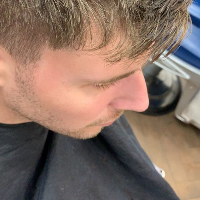A bit of texture 💯  #barber #barbershop #fade #texturedcrop #menshair #hairgoals