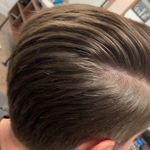 Our boy Jake getting the tired for the weekend  #barber #barbering #menshair #texture #fade #lowfade #menslonghair