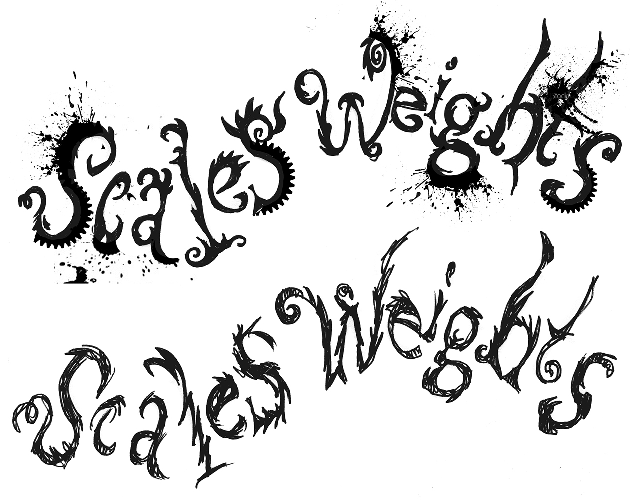 scales weights lettering