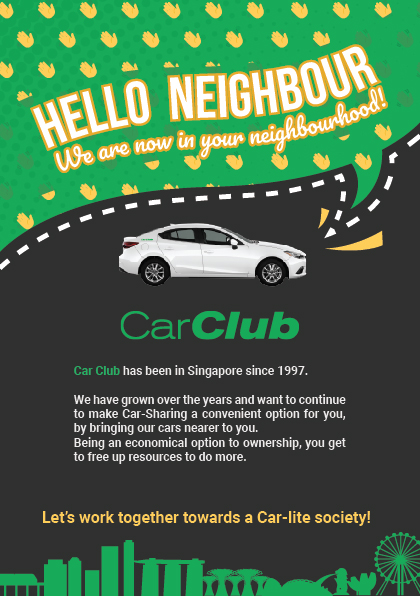 Car Club Hello Neighbour Flyer