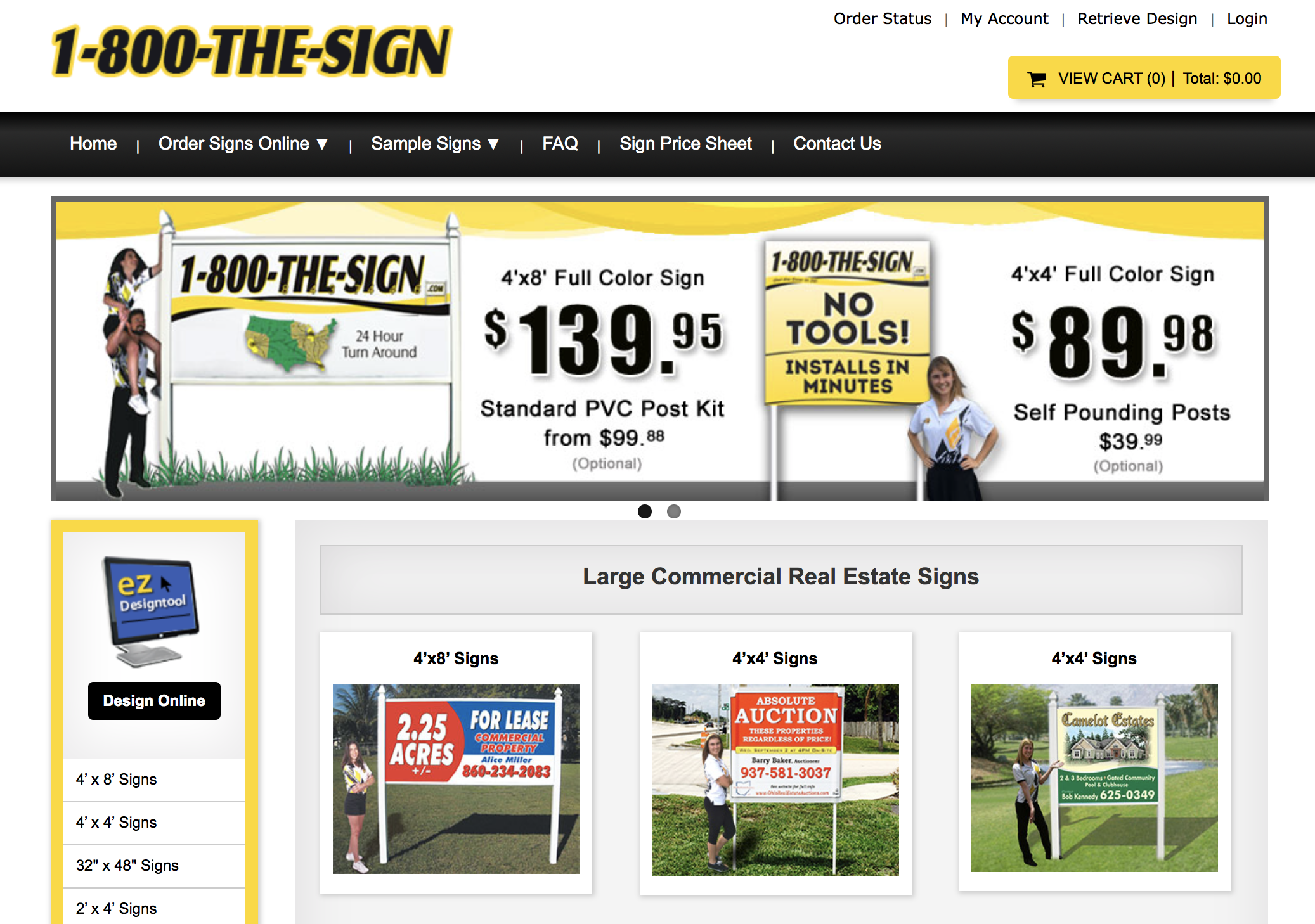 1-800-The-Sign - Large format signs for cheap.