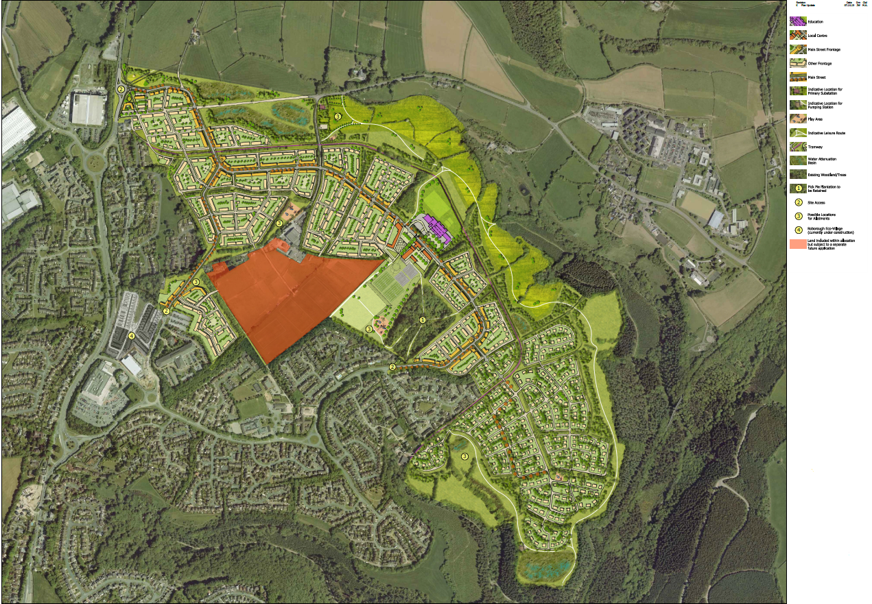 The current master-plan for the Woolwell site