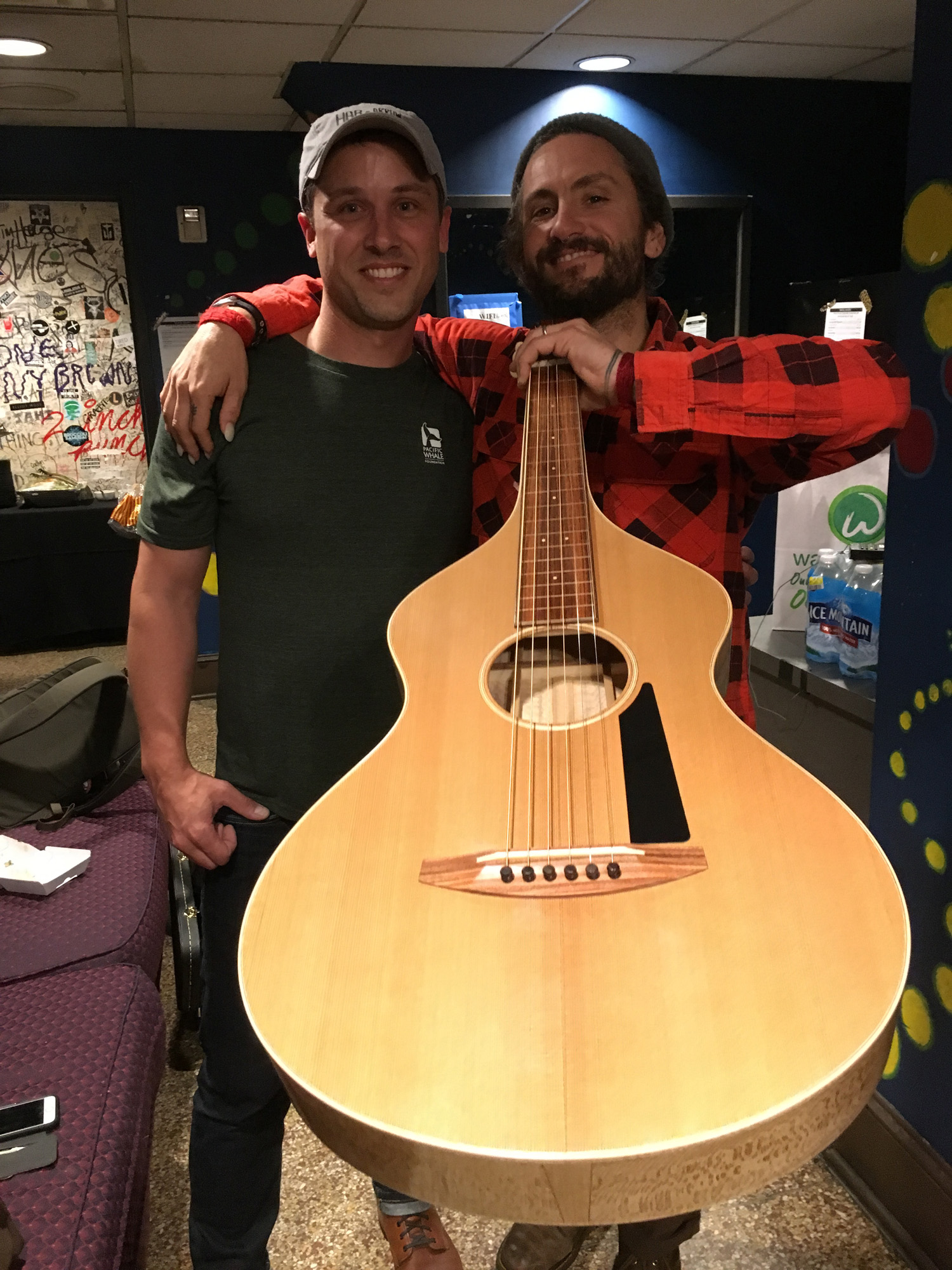 John Butler loving every minute of life. What a great show  John Butler Trio , Mamma Kin and  Spender  put on at the House of Blues in Cleveland. It was an honor to send the stick home with John, may it sing forever. Check out  Mama Kin Spender  you can't miss this duo!!!
