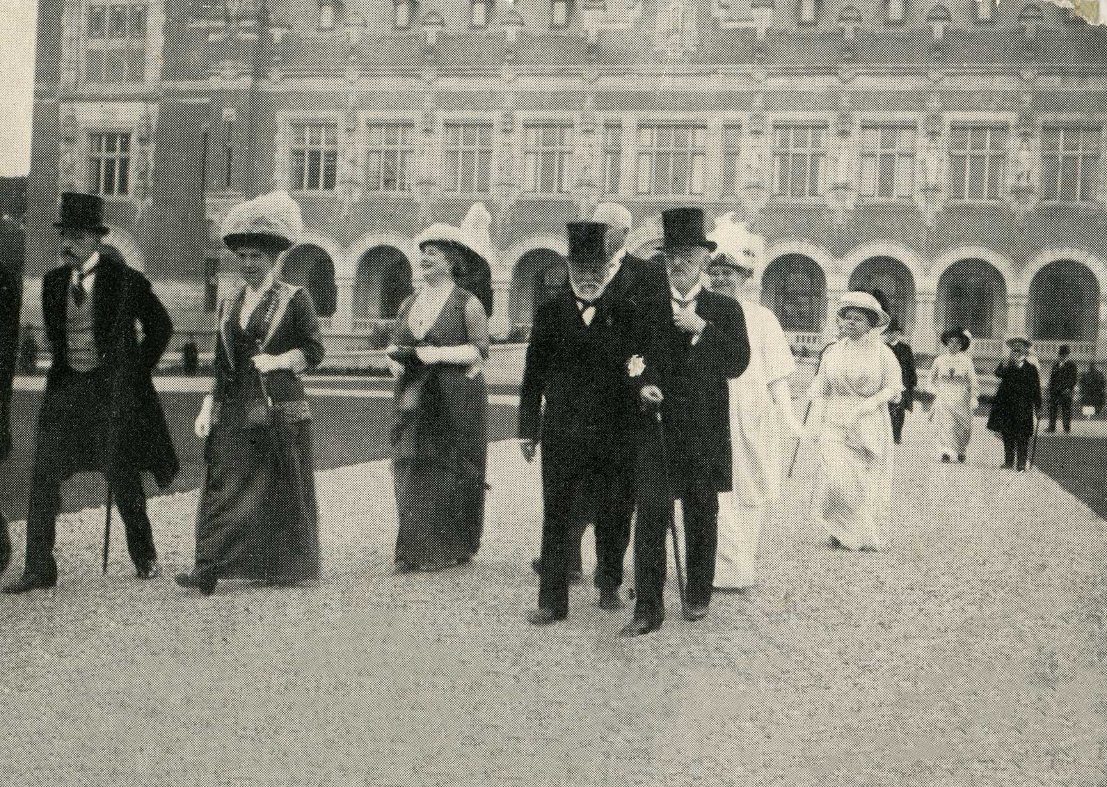 Andrew Carnegie at the opening of The Peace Palace, 1913