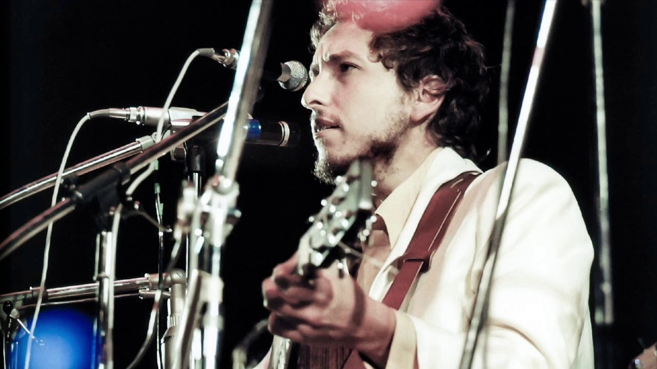 Man in a white suit: Bob Dylan plays the Isle of Wight, August 31, 1969. ALL WIGHT NOW is to celebrate this historic event.