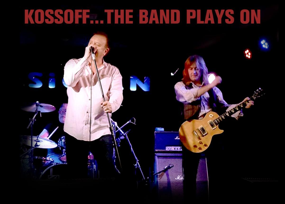 KOSSOFF: THE BAND PLAYS ON...Terry Slesser, founder member of Paul Kossoff's final band, Back Street Crawler, with lead guitarist John Buckton. K:TBPO are confirmed to appear at Million Dollar Bash.