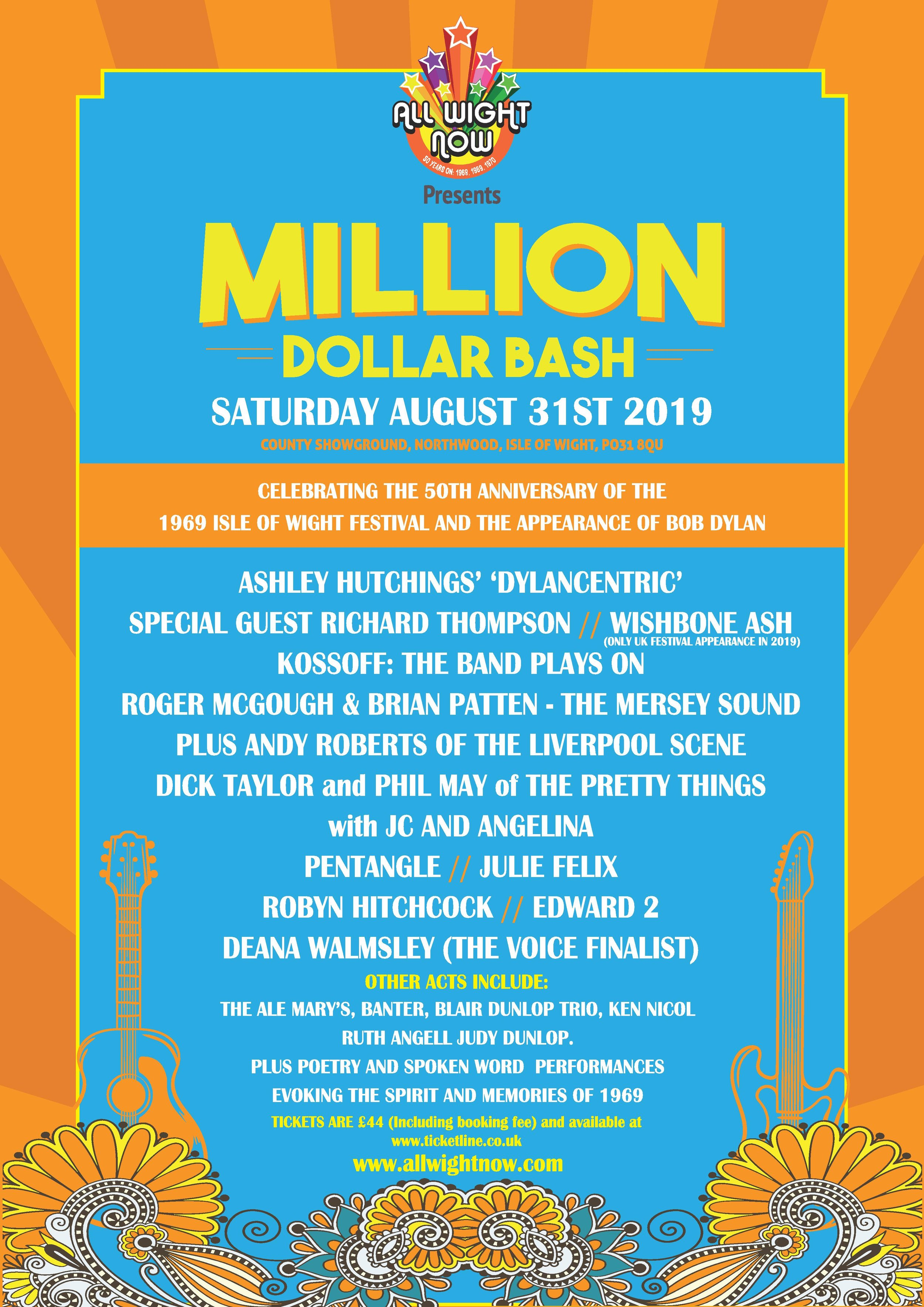 Yes, it is coming... Million Dollar Bash. All the details - including details of discounted hard-copy ticket sales on following pages...