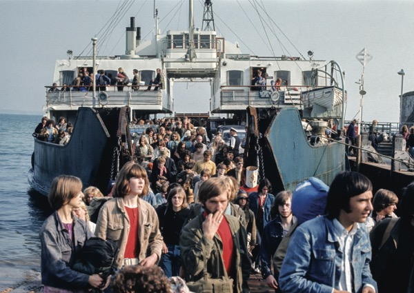 Ferry good show: heading for the IoW Festival back in 1970.