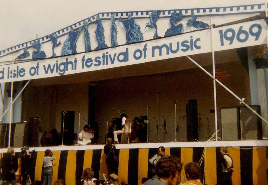 This one wasn't taken in 2019! Wind back 50 years and this is the stage that Bob, Julie Felix, The Who and company played on.