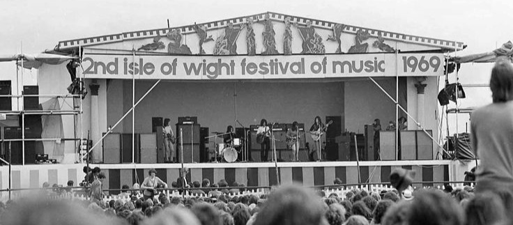 Back in the day: The IoW Festival of Music in 1969 was very well organised with a great atmosphere, putting down a marker for all festivals that followed in its wake.